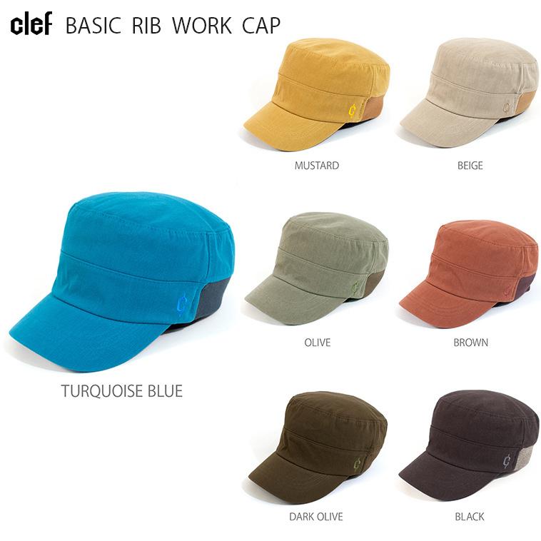 Clefでは大人気の被りごごち抜群のリブ仕様のワークキャップは風合いある7色の生地でラインナップ スベリ部分には吸水速乾素材を使用する本格仕様 送料無料お手入れ要らず rb3478 BASIC RIB WORK メンズ キャップ CAP ハンチング 人気急上昇 レディース 帽子