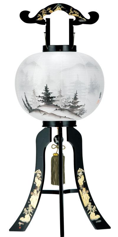 盆提灯 モダン 大内行灯 絹 本猫 本金蒔絵 二重張 '◆追加オプション 盆提灯 一対 初盆セット お盆 提灯 miha1231
