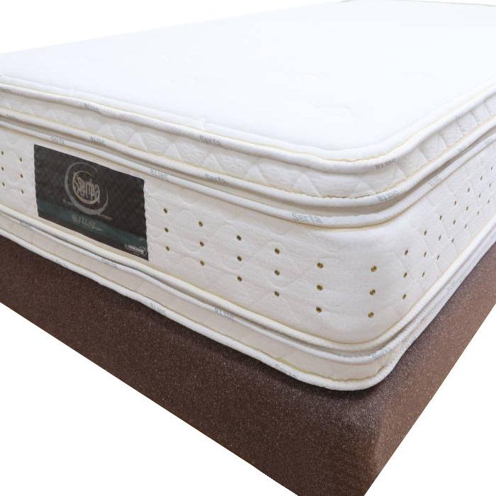 ホテルの最高級ベッド パーフェクトスイート上下セット 2m巾サイズ ホテルベッド★サータ(SERTA)のアイ・シリーズ 有名ホテル市場向け