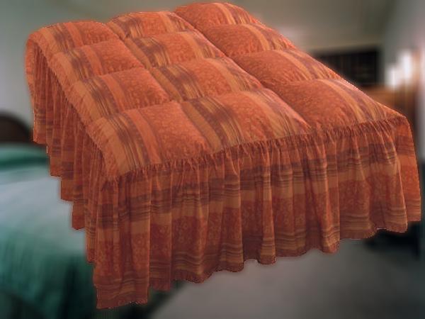 ホテルの羽毛ベッドカバー(フリルタイプ)を1枚からご家庭向けにもお届け◇本物のホテル旅館仕様なのでフワッと軽く上品な風合い◇Sシングルサイズ◇しかも,お客様がお持ちのベッドのサイズに合わせて縫製します!日本製