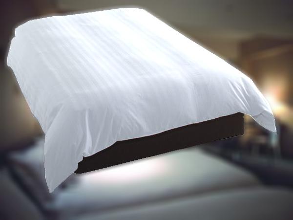 デュベ カバー ホテル羽毛ベッドカバー(横入れ式、羽毛インナー無しタイプ) Q1(ワイドダブル)サイズ 普段は実際のホテルにお納めしている寝具類をご家庭向けに1枚からお届け!