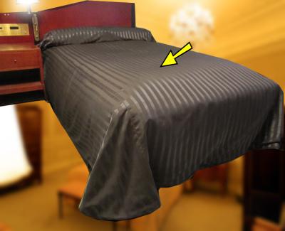 ベッドスプレッド K(キング)サイズ(ベッドの上からスッポリ覆うホテルスタイルのベッドカバー)ご家庭向けにも1枚からお届けします※ベッドの本体部分用/お持ちのベッドのサイズに合わせて縫製します/日本製