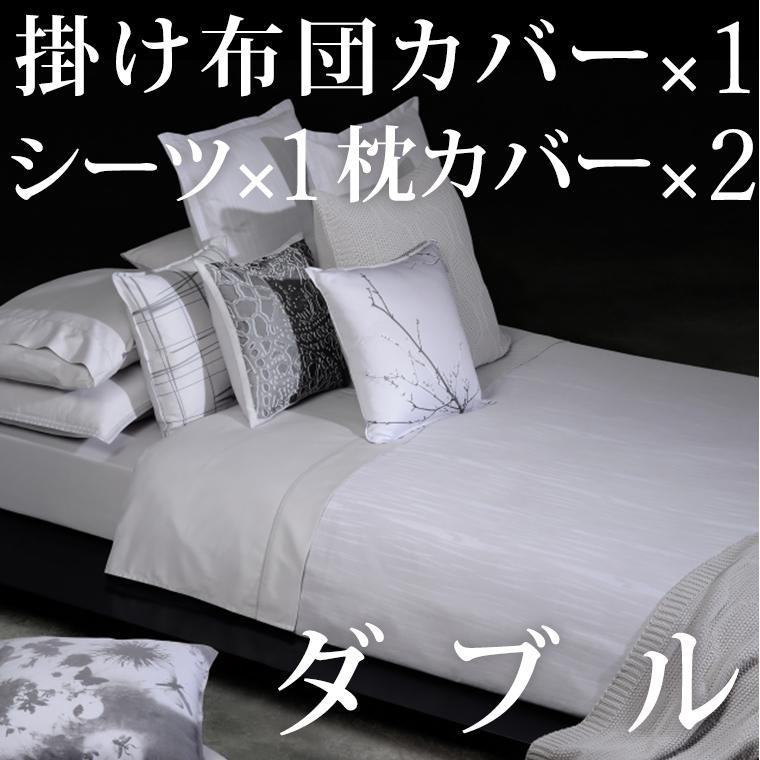 ボックスシーツ1枚 掛け布団カバー1枚 枕カバー2枚 ダブル 140×200cm 高さ30cm メロディ ホームコンセプト