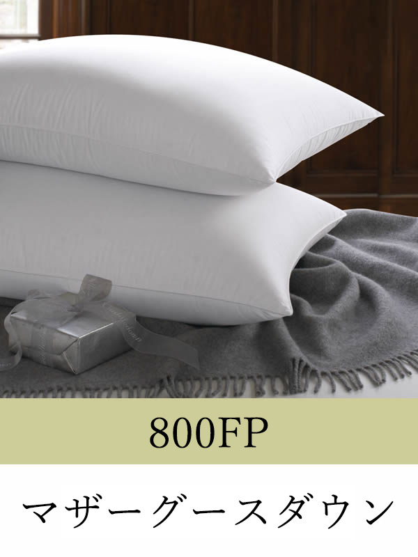 羽毛枕 スタンダード 50cmx66cm ミディアム 800フィルパワーハンガリー産ホワイトマザーグースダウンピロー