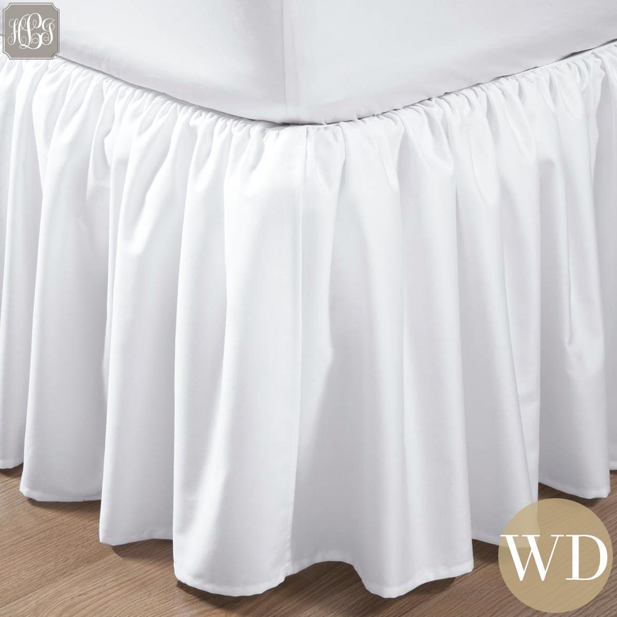 ベッドスカート | ワイドダブル | 155x200cm | 高さ25cm | 400TC ギャザードベッドスカート 送料無料
