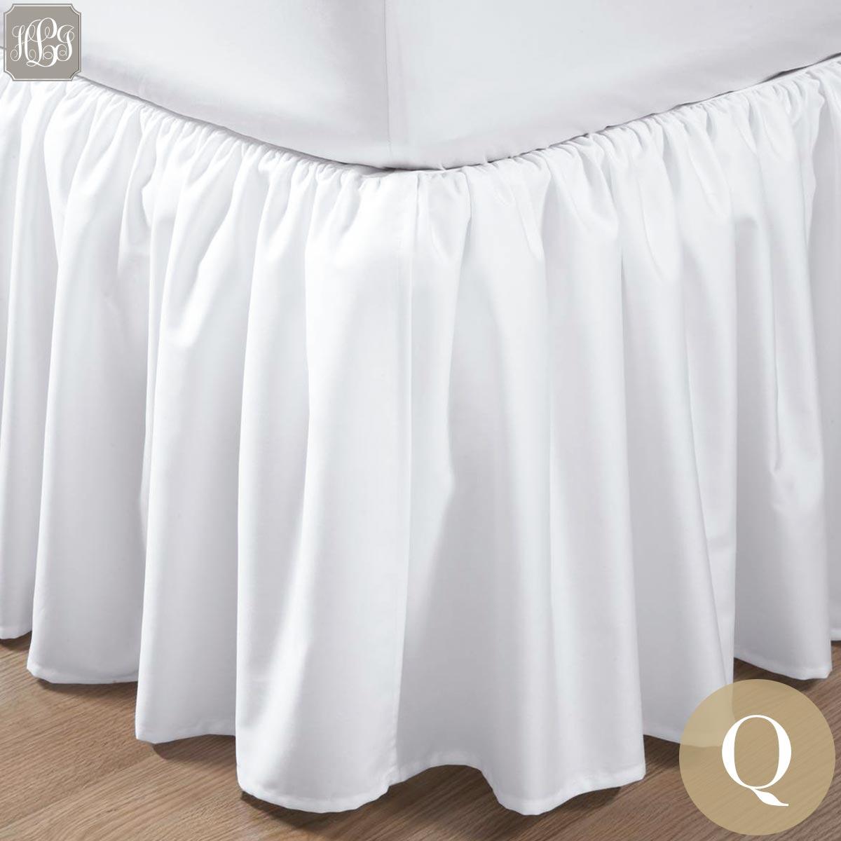 ベッドスカート | クイーン | 160x200cm | 高さ25cm | 400TC ギャザードベッドスカート 送料無料