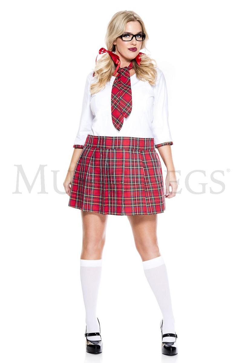 【Music Legs】 25099Q Curvaceous School Nerd 『大きいサイズ』 ミュージックレッグス レディース タータンチェック スクールガール コスチューム