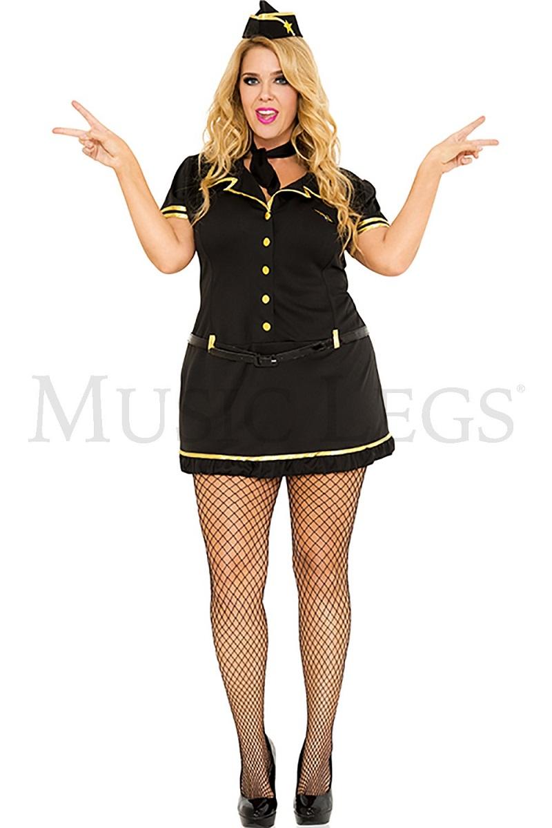 【Music Legs】 70258Q Mile High Club Stewardess 『大きいサイズ』 ミュージックレッグス レディース セクシー スチュワーデス/キャビンアテンダント コスチューム