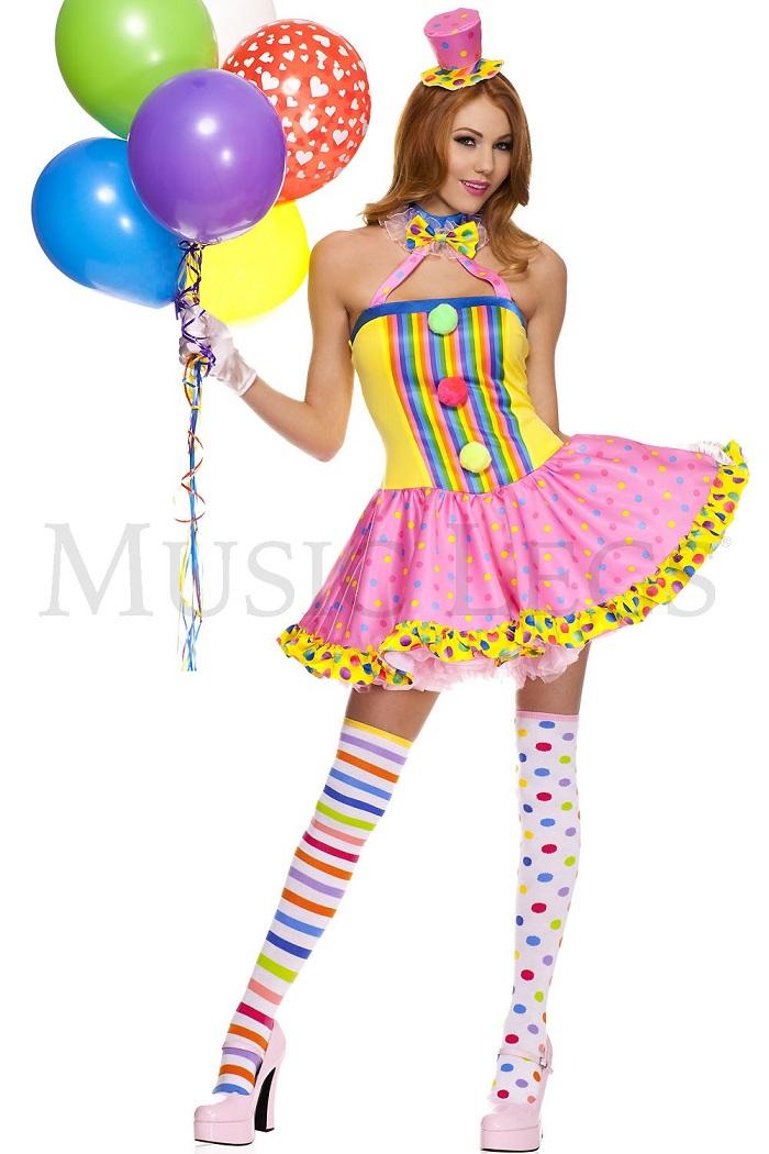 驚きの値段 Music Legs テレビで話題 70494 Circus Cutie Clown ミュージックレッグス コスチューム レディース サーカスキューティークラウン ピエロ