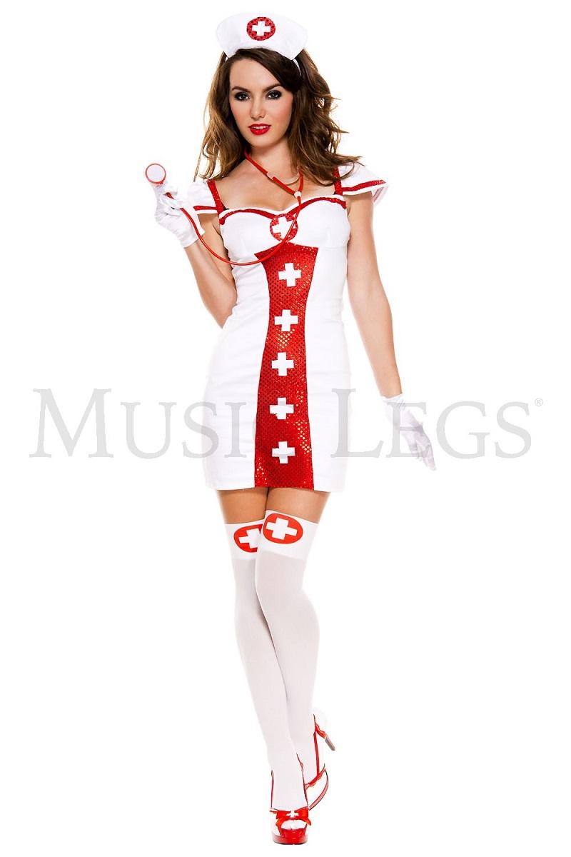 【Music Legs】 70549 Bedside Beauty Nurse ミュージックレッグス レディース セクシー ナース/看護婦 コスチューム