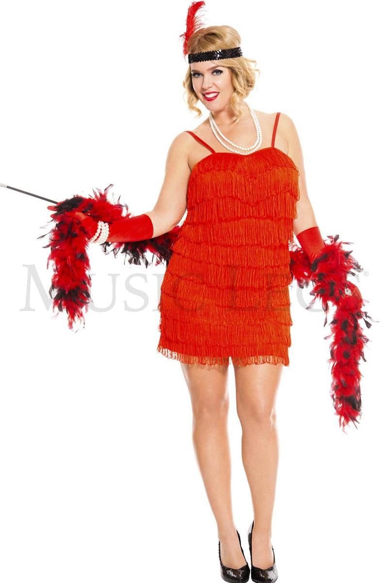 【Music Legs】 70590Q 1920's Flaming Flapper 『大きいサイズ』 ミュージックレッグス レディース 20年代フラッパー コスチューム