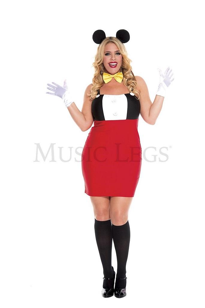 【Music Legs】 70616Q Plus Size Retro Mouse 『大きいサイズ』ミュージックレッグス レディース レトロミッキーマウス コスチューム