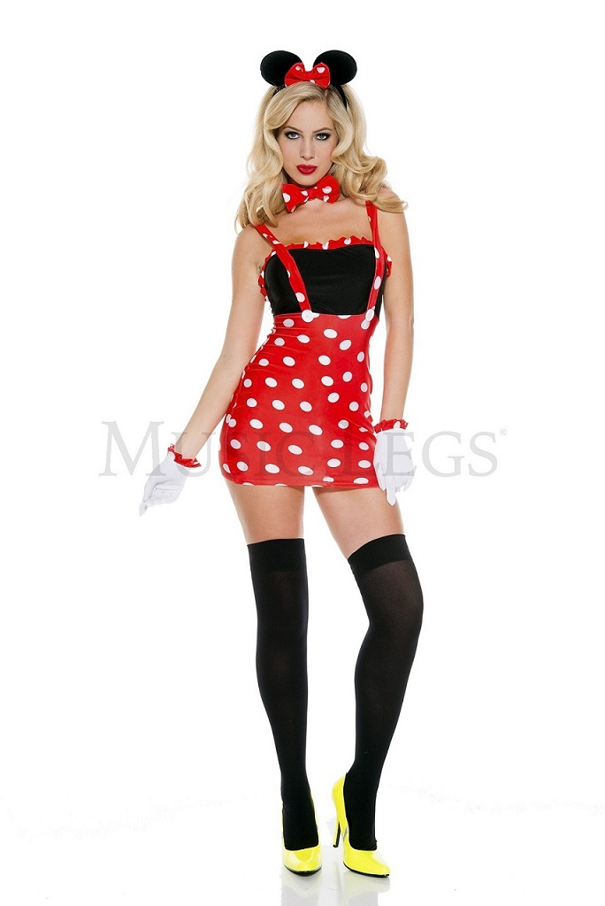 【Music Legs】 70617 Darling Mouse Costume ミュージックレッグス レディース セクシーミニーマウス コスチューム