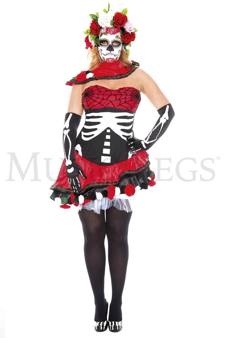【Music Legs】 70626Q Miss Muerta 『大きいサイズ』 ミュージックレッグス レディース ミス.ムエルタ ハロウィン コスチューム