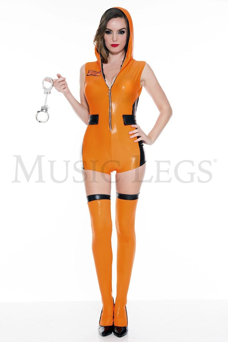 【Music Legs】 70629 Most Wanted Prisoner ミュージックレッグス レディース セクシープリズナー/囚人 コスチューム