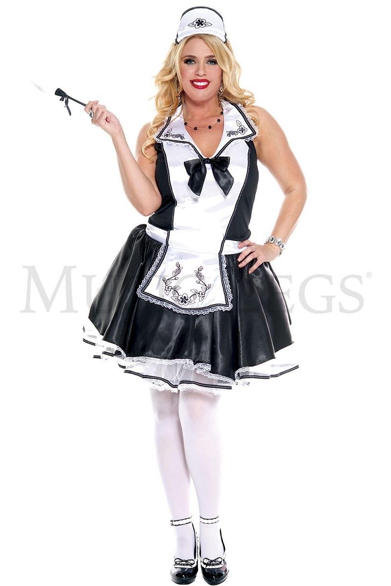 【Music Legs】 70633Q Elegant French Maid 『大きいサイズ』 ミュージックレッグス レディース エレガント フレンチメイド コスチューム