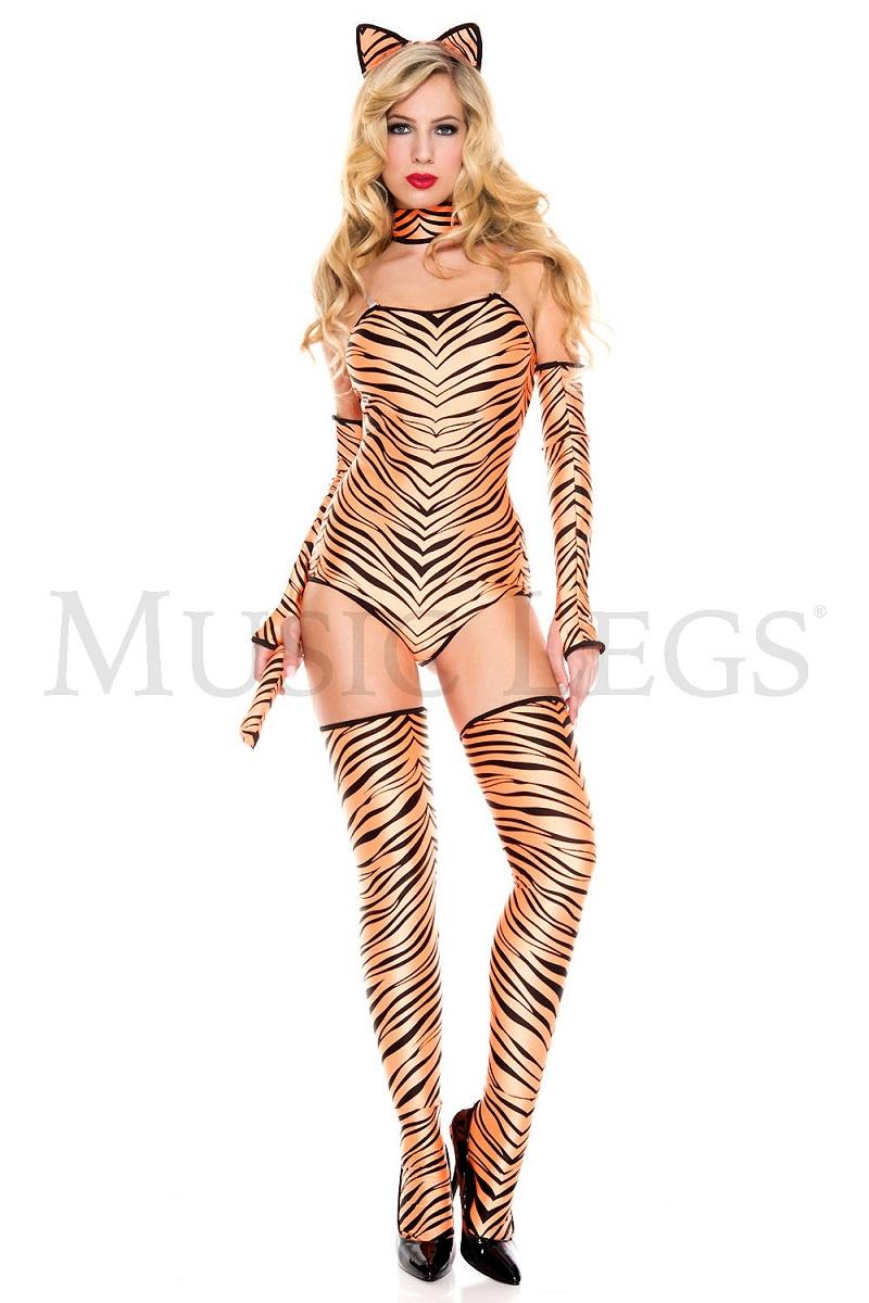【Music Legs】 70649 Pouncing Tiger ミュージックレッグス レディース セクシータイガー コスチューム
