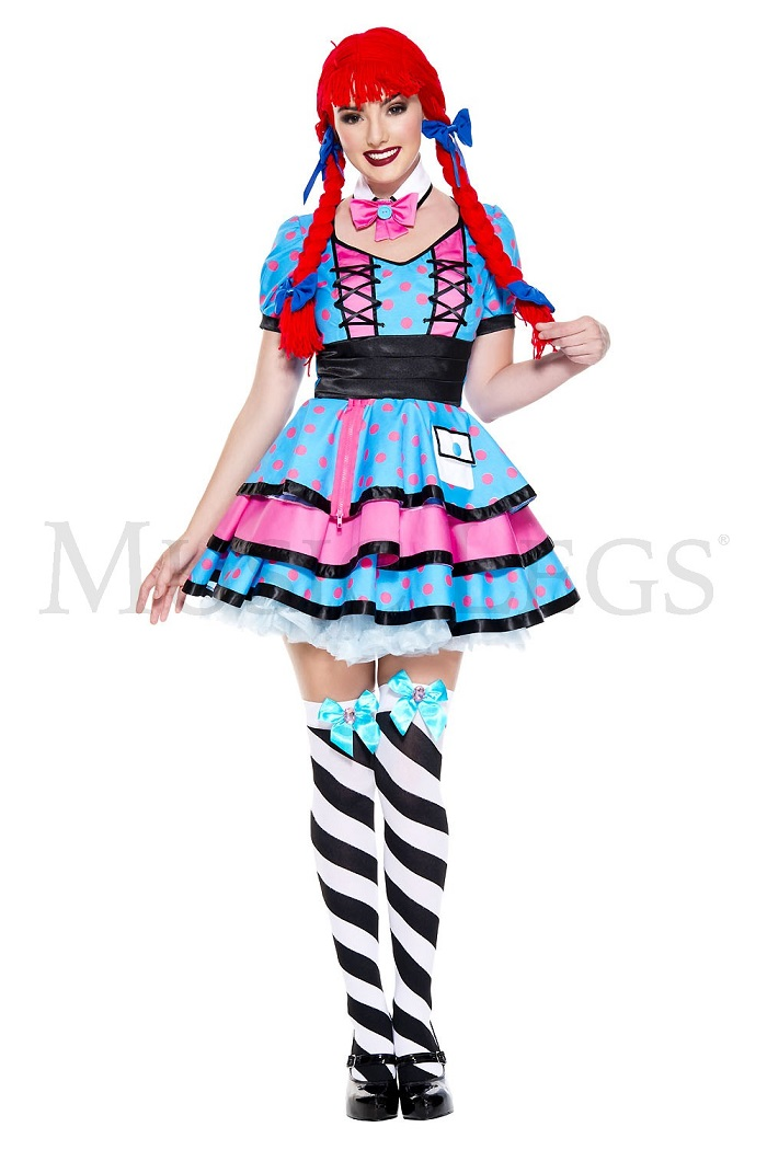 【Music Legs】 70715 Dark Rag Doll ミュージックレッグス レディース ダークラグドール コスチューム