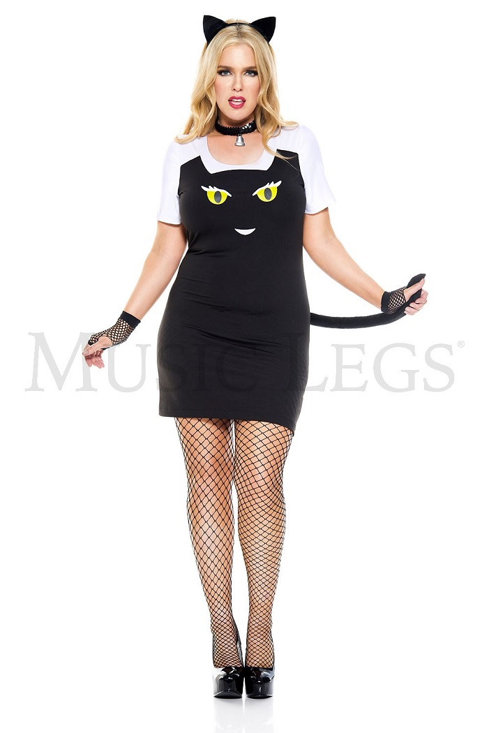 【Music Legs】 70734Q Fuzzy Kitty 『大きいサイズ』ミュージックレッグス レディース ファジーキティ コスチューム