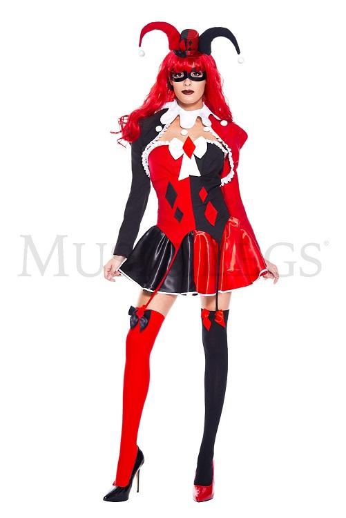 【Music Legs】 70753 Cute Quinn ミュージックレッグス レディース キュート ハーレクイン コスチューム