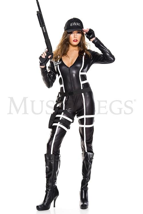 【Music Legs】 70811 Sexy SWAT Agent ミュージックレッグス レディース セクシー スワット エージェント コスチューム
