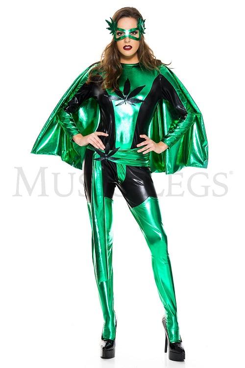 【Music Legs】 70813 Wonder Hero ミュージックレッグス レディース グリーン ワンダーヒーロー コスチューム