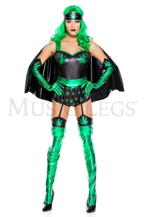 【Music Legs】 70814 Leafy Super Woman ミュージックレッグス レディース グリーン スーパーウーマン コスチューム