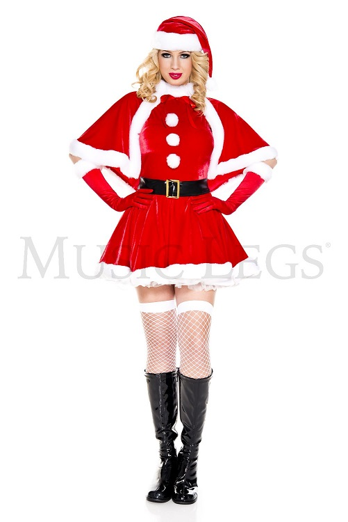 【Music Legs】 70827 Secret Santa ミュージックレッグス レディース シークレットサンタ コスチューム