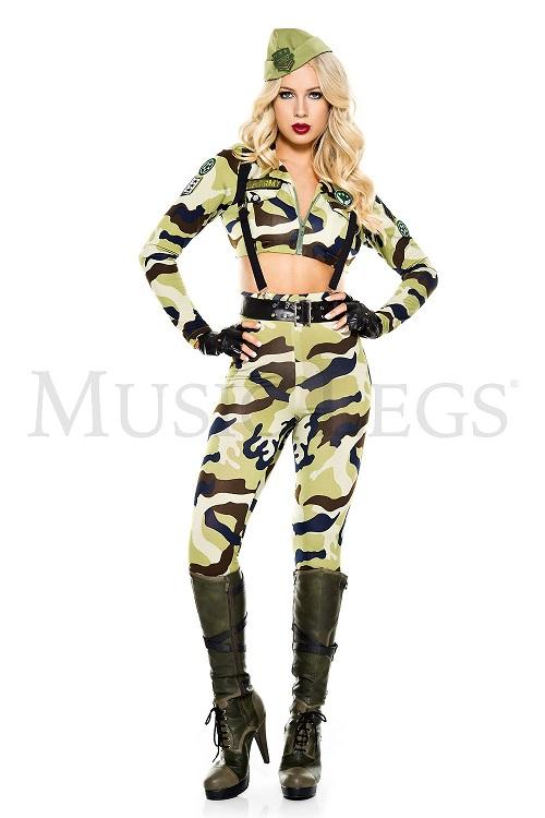 【Music Legs】 70863 Commando Soldier ミュージックレッグス レディース ミリタリー コマンドソルジャー コスチューム