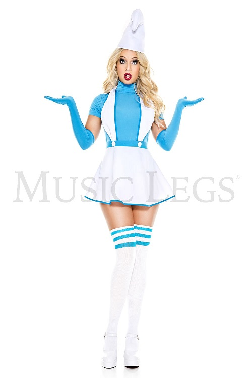 【Music Legs】 70887 Sexy Blue Buddy ミュージックレッグス レディース セクシーブルーバディ コスチューム