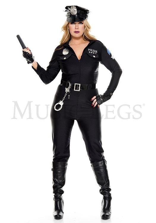 【Music Legs】 70893Q Perverse Lieutenant 〖大きいサイズ〗 ミュージックレッグス レディース ポリス コスチューム