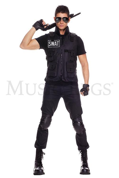 【Music Legs】 76001 SWAT Commander ミュージックレッグス メンズ スワットコマンダー コスチューム