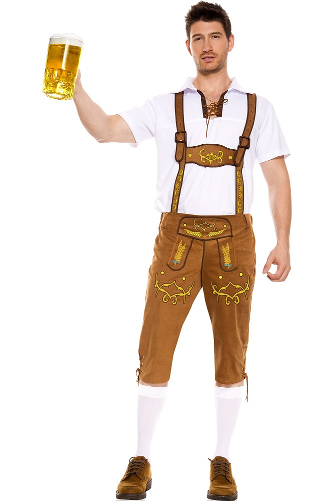 【Music Legs】 76018 Bavarian Lederhosen ミュージックレッグス メンズ チロル/バイエルン レーダーホーゼン コスチューム