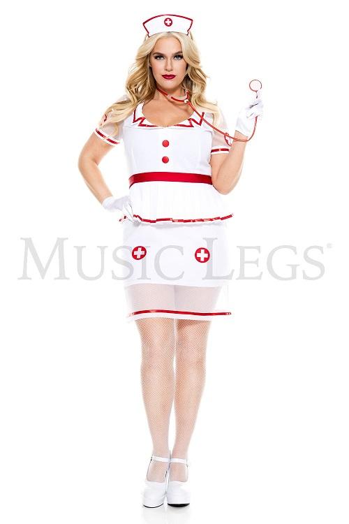 【Music Legs】 70898Q Home Care Nurse 〖大きいサイズ〗 ミュージックレッグス レディース ホームケアナース コスチューム