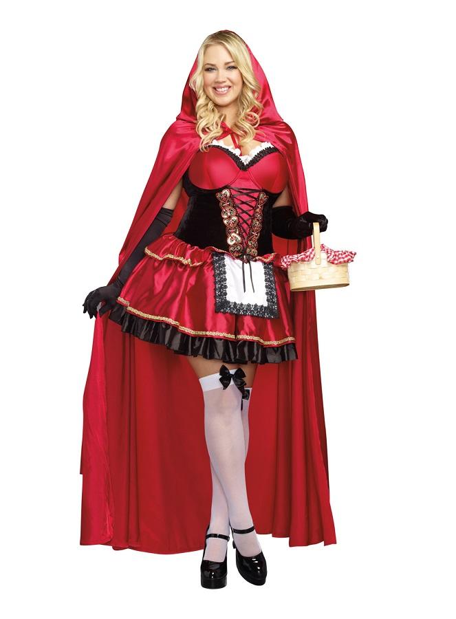 【Dreamgirl】 9477X LITTLE RED ドリームガール 『大きいサイズ』 レディース 赤ずきん コスチューム