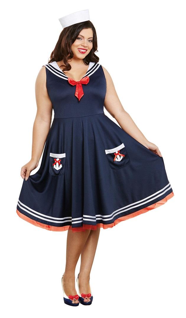 【Dreamgirl】 10284Q DALL ABOARDドリームガール 『大きいサイズ』 レディース セーラーガール コスチューム