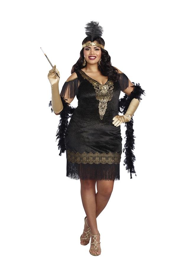 【Dreamgirl】 10700X SWANKY FLAPPERドリームガール 『大きいサイズ』レディース 1920代 お洒落 フラッパー コスチューム
