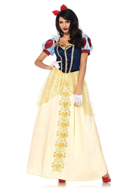 国内即発送 Leg Avenue レッグアベニュー 85573 Deluxe Snow White コスチューム ディズニープリンセス スノーホワイト 与え レディース 白雪姫
