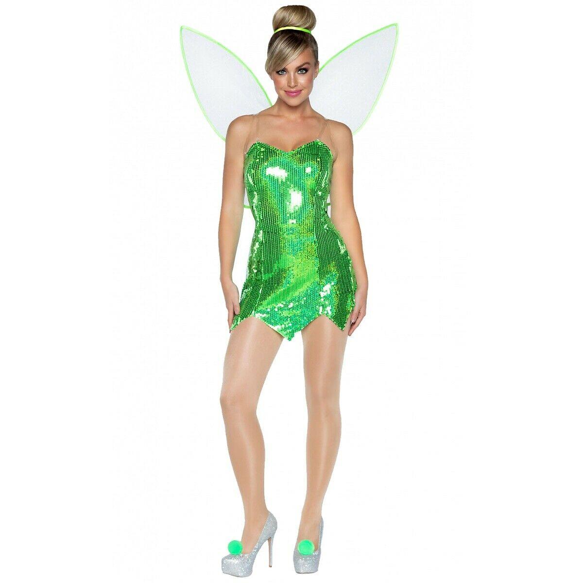 Leg オンラインショップ Avenue レッグアベニュー [宅送] 86938 Green Fairy レディース ティンカーベル ディズニー フェアリー コスチューム