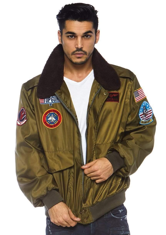 Leg Avenue レッグアベニュー TG86762 Top Gun Men's Flight Bomber Jacket bボンバージャケット コスチューム 数量は多 トップガン SuitTop メンズ ※ラッピング ※