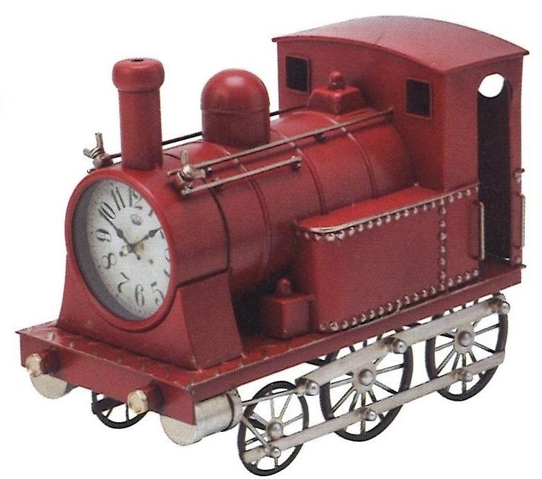 【送料無料(沖縄・離島を除く)】機関車クロック レッド【時計】