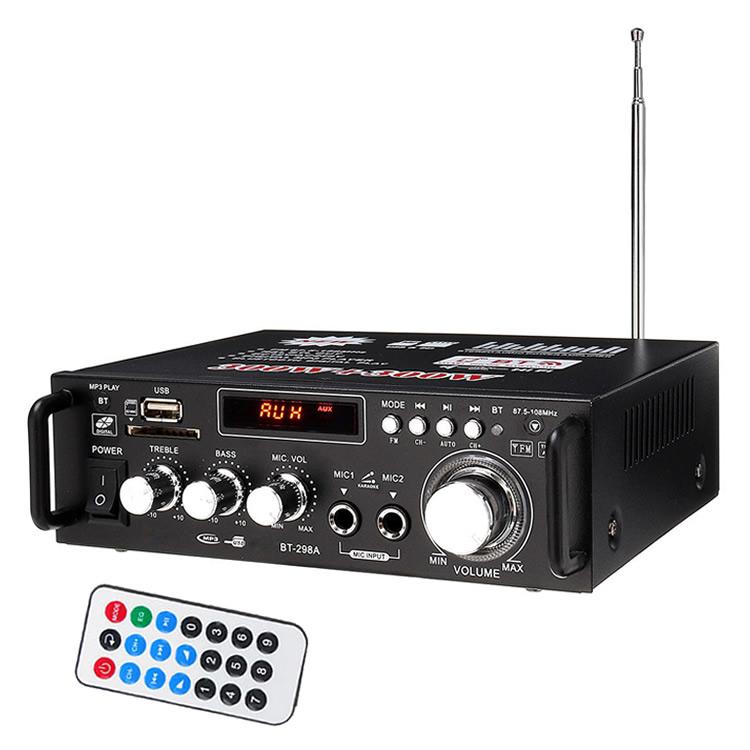 デジタルアンプ 最大出力600W(300W+300W) 高音質 重低音調整 LP298A