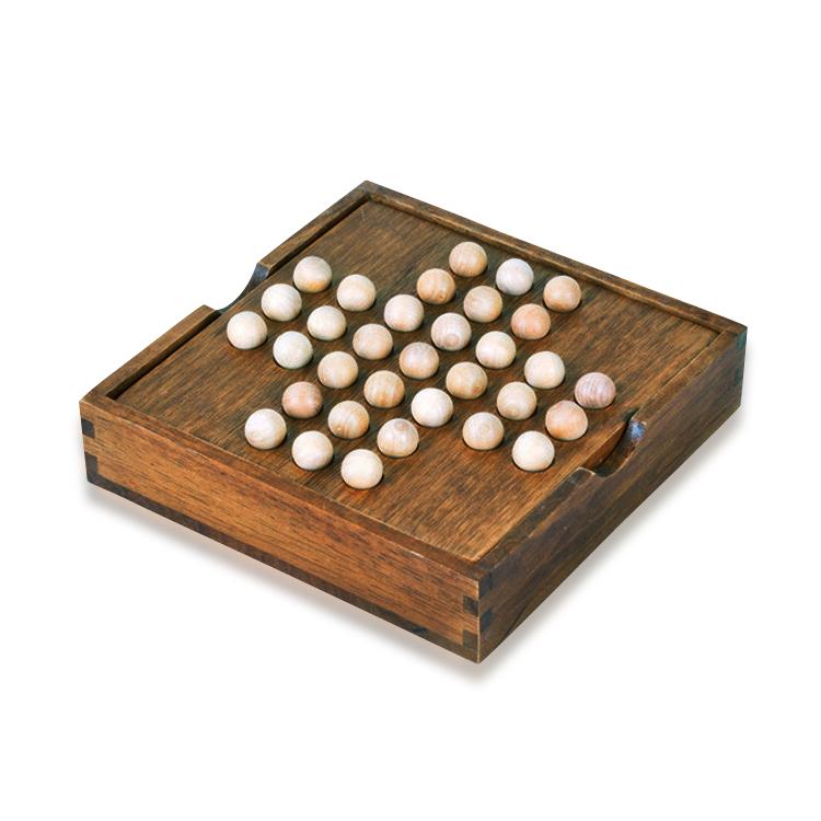 ペグソリティア ブラウンカラー 一人遊び 期間限定今なら送料無料 木製ボードパズル 木のおもちゃ 知育 教育玩具 ONLY33S 脳トレ 思考判断力 知育玩具 大人も子供も 暇つぶし 発想力 授与