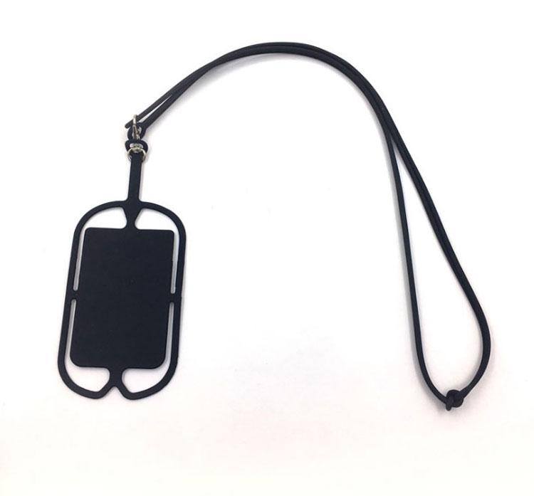 iPhone11 11ProMax対応 シリコーン製スマホストラップケース カードケース付き ほぼ全機種対応 柔軟性 伸縮性 ネックストラップ 落下防止に SSS016