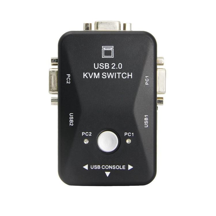 高級な キーボード マウス対応USBメモリ プリンターなど共有使用 バスパワーUSB2.0ポート3個搭載 VGA切替器 VGA信号2入力→1出力 安心の定価販売 VGA2IN1 セレクター パソコン切替表示