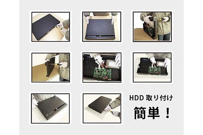 H.264デジタルレコーダー カメラ16台から同時に録画可能  DVR16CH