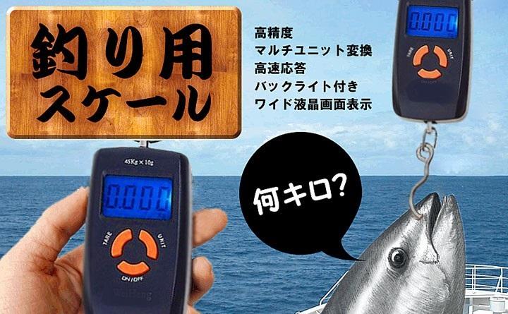 魚計量器 魚釣り用  釣り上げた魚の重さをその場で量れます ポータブル型デジタル計量器 H1960B