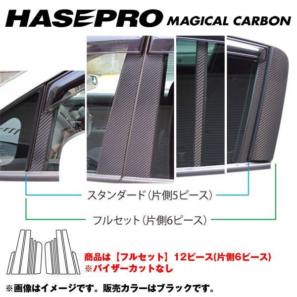 マジカルカーボン ピラーセット フルセット ティーダ C11 年式:H20/1~/HASEPRO/ハセプロ:CPN-F43
