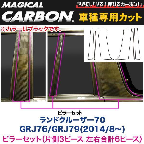 ピラーセット(左右合計6ピース) マジカルカーボン ブラック ランドクルーザー70 GRJ76/GRJ79(H26/8~)/HASEPRO/ハセプロ:CPT-80