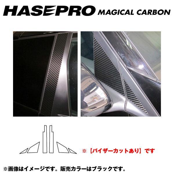 マジカルカーボン ブラック ピラーセット バイザーカット CR-Z ZF1 年式:H22/2~/HASEPRO/ハセプロ:CPH-V48